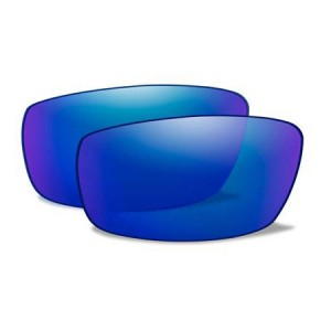AIRRAGE POLARIZED BLUE MIRROR LENSES 698P 7600