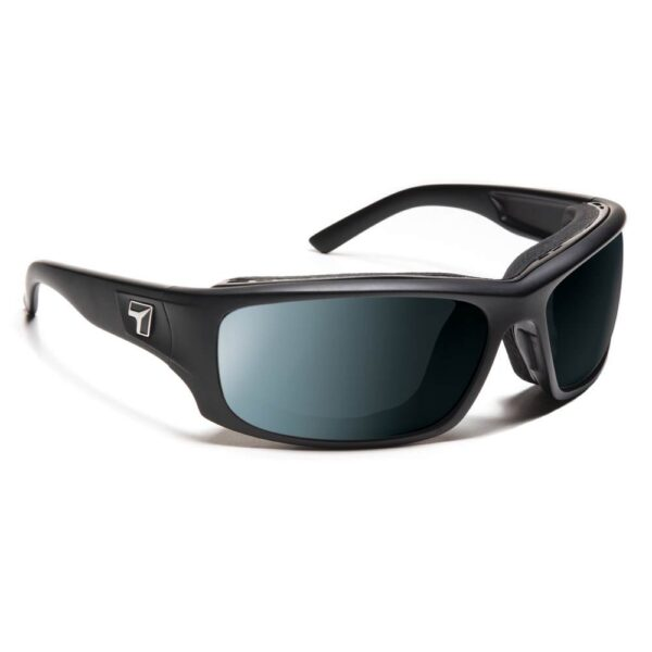 7eye Airshield Panhead Matte Black SV Polarized Gray