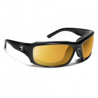 7eye Airshield Panhead Glossy Black SV Yellow