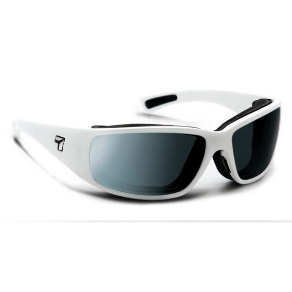 7eye Airshield Taku Plus Glacier White SV Polarized Gray