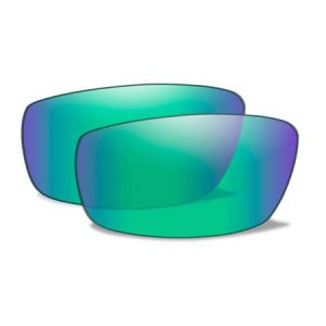 P-17 POL EMERALD MIRROR LENSES P_17PGM 7600